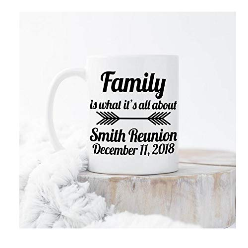 Family Party,Reunion Mugs,11oz Ceramic Coffee Mug/Tea Cup,Christmas gifts,gift for friend,gift for her,Photo Mug,best gift,Art mug Q00OD-267 ()