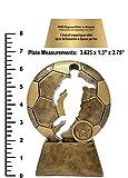 Soccer Ball Player Cut Out Trophy - Futbol
