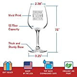 Drunk Wives Matter Funny Wine Glass- Gifts for