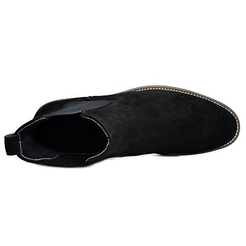 Blivener Mens Chelseaboots Mocka Chukka Boots 02black