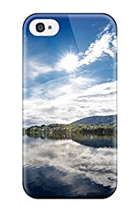Hot Sunny Lake First Grade Tpu Phone Case For Iphone 4/4s Case Cover