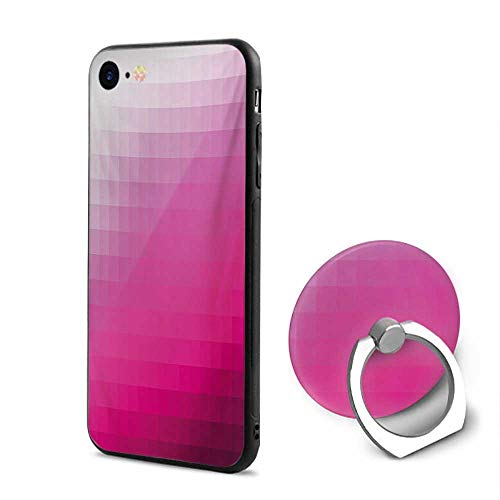 - Hot Pink iPhone 6/iPhone 6s Cases,Modern Art Mosaic Tiles Gradually Ombre Inspired Squares Image Hot Pink Dark Purple White,Design Mobile Phone Shell Ring Bracket