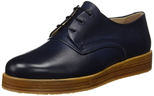 Neosens S060 Restored Skin Midnight/Baco, Scarpe Stringate Oxford Donna Blu (Midnight)