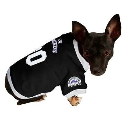 8f2236b0e Amazon.com   MLB Colorado Rockies Black Mesh Pet Jersey (Large ...