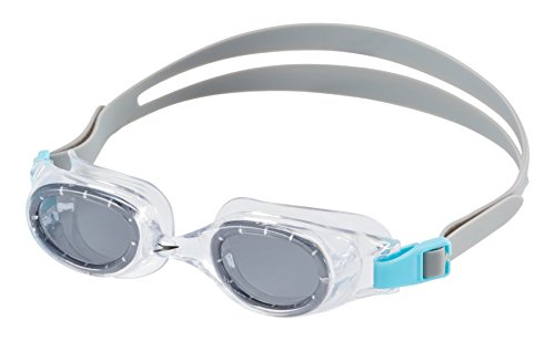 Speedo Jr. Hydrospex Classic Swim Goggles, No Leak, Anti-Fog, and Easy to Adjust with UV Protection, Smoke Ice, 1SZ