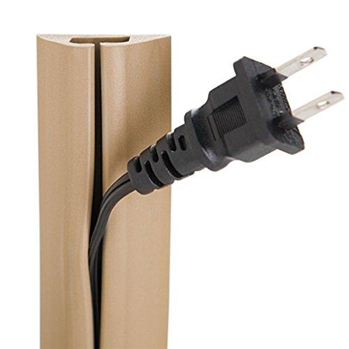 Ut alambre Protector de cable de compacto de 5-ft con Single Channel, 1.52 m, gris