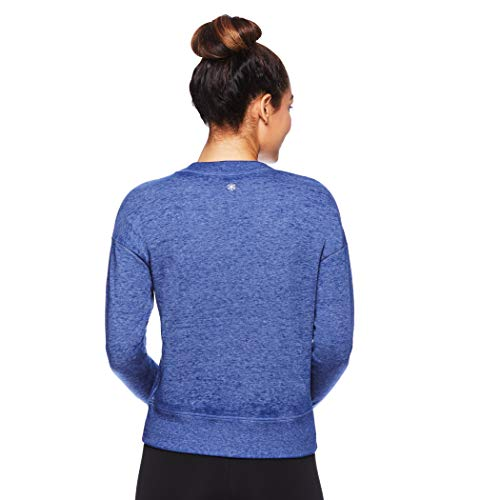 Gaiam Women's Pullover Fleece Yoga Sweatshirt - Long Sleeve Graphic Activewear Sweater - Medieval Blue, Large]()