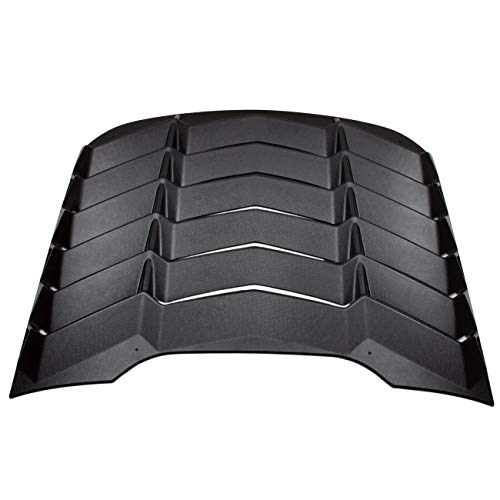 CUMART Rear Window Louvers Windshield Sun Shade Cover Lambo Style Matte Black For 2015 2016 2017 2018 Ford Mustang(Ford Mustang) ()