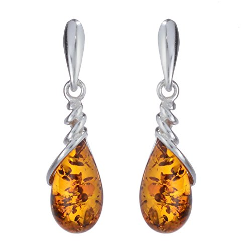 Sterling Silver and Baltic Honey Amber EarringsEleanor