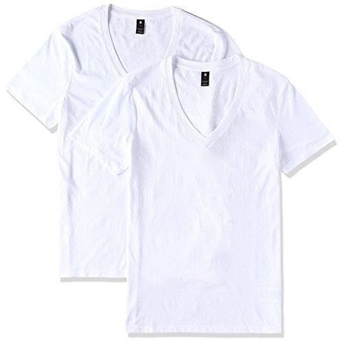 G-Star Men's Base HTR 2 Pack Short Sleeve V-Neck T-Shirt,, used for sale  Delivered anywhere in Canada