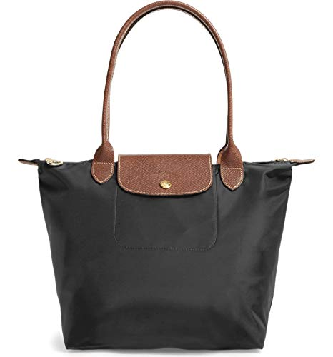 Longchamp 'Medium 'Le Pliage' Tote Shoulder Bag, Black (Longchamp Large Tote Bag)