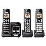 Panasonic KX-TG273K 3 Auriculares Bluetooth Mensaje Texto/Alerta (Renewed)