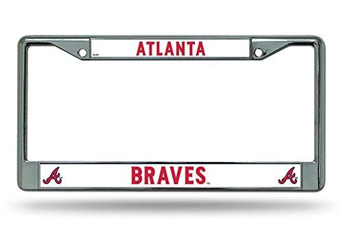 Atlanta Braves Car (MLB Atlanta Braves Chrome License Plate Frame)