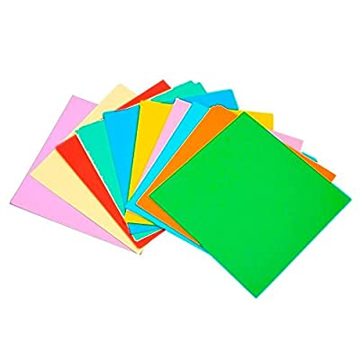 eBoot 100 Sheets Double Sided Origami Paper 15 x 15 cm in 10 Assorted Colours