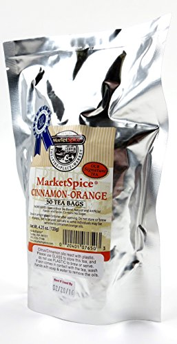 MarketSpice Cinnamon Orange Teabags (50 Pack) Frustration Free Packaging