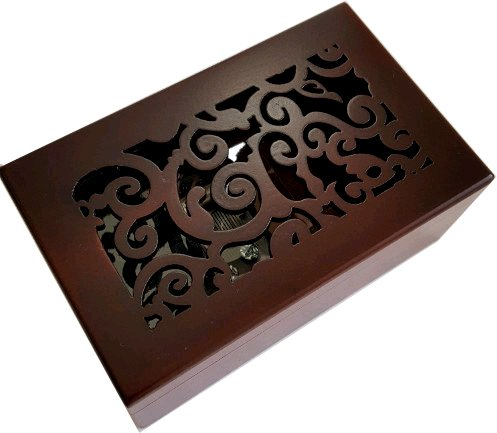 Anakin.jerry Solid Wood Miniature Hollow Music Jewelry Box : Once Upon a December (Soundtrack)
