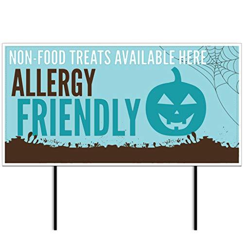 VictoryStore Teal Pumpkin Allergy Friendly Halloween Yard Sign