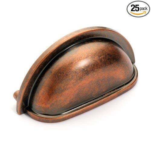 (Dynasty Hardware P-2769-AC Antique Copper Cabinet Hardware Bin Pull (25 Pack))