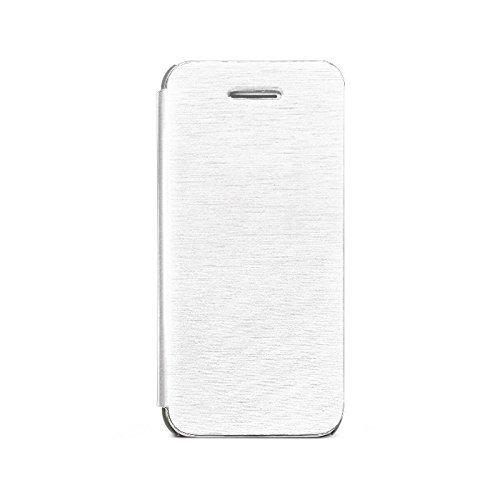 Zenus Color Flip Case/Tasche Weiß für Apple iPhone 5C