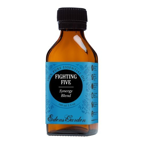 Fighting Five Synergy Blend Essential Oil- 100 ml (previously known as Four Thieves) by Edens Garden (Comparable to Young Living's Thieves & DoTerra's ON GUARD blend)- 100 ml