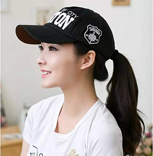 Unique Fashion Lovers hat Cap Base Cap Tide Men Man Hip-hop, Benn Flat Along Brimmed hat Autumn Winter Fashion (Boston Black