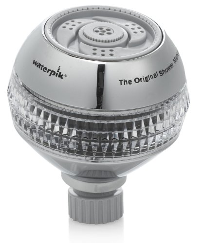 outlet Waterpik TRS-529 Power Spray Fixed Mount Shower Head, Brushed Nickel