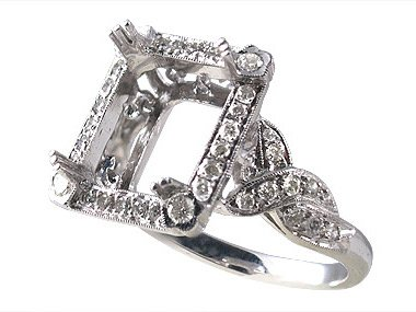 Semi Mount Antique Style Ring (Antique Style Ring)