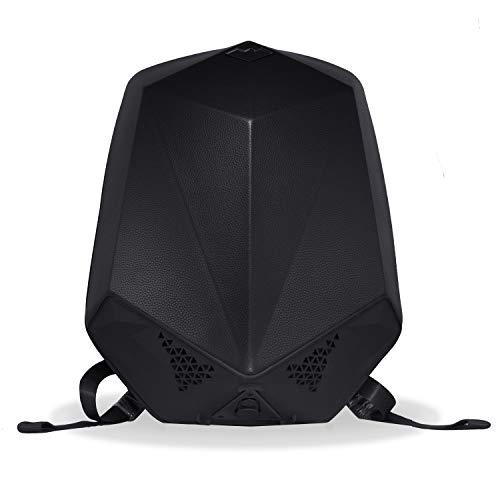 Clearon Electric Bluetooth Backpack Speaker | Portable Charger, EDR Speaker, Nylon EVA Hard-Shell Waterproof Material & Modern Swag Design (Leather Black)