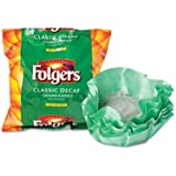 Folgers Coffee Filter Packs, Decaffeinated Classic Roast, .9 oz - 40 filter packs.