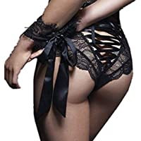 F_Gotal Sexy Underwear for Women Lace Flowers Panties High Waist G-String Thongs Knickers Briefs
