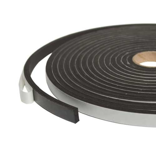 Sponge Neoprene Stripping With Adhesive 1/2 Inch Wide X 1/8 Inch Thick X 50 Feet Long