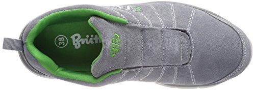 Bruetting Unisex Adults' Dallas Slipper Slip on Trainers Grey (Grau/Gruen Grau/Gruen) wrFelakB