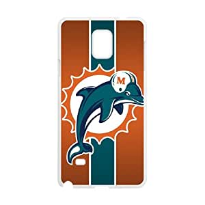 Miami Dolphins Samsung Galaxy Note 4 Cell Phone Case White 218y3-214610