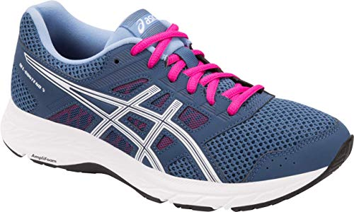 ASICS Gel-Contend 5 Women's Running Shoe, Grand Shark/White, 9.5 W US