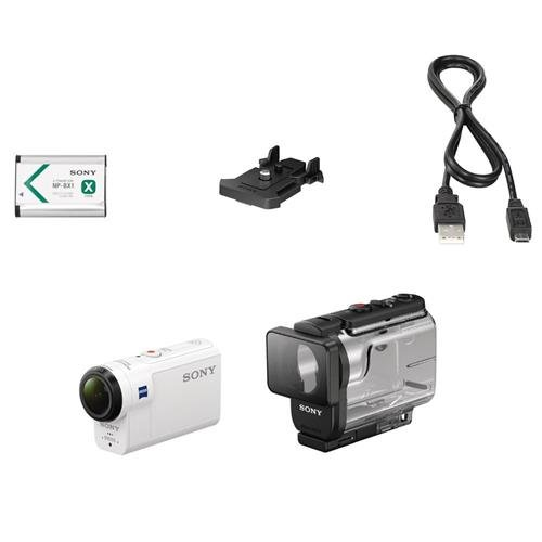 Sony HDRAS300/W HD Recording, Action Cam Underwater Camcorder, White by Sony