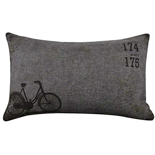 Amazon.com: Funda de almohada de lino cuadrada para ...