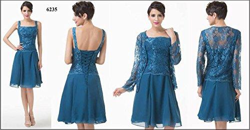 Ever Pretty, Grace Karin Quissmoda Vestido Fiesta Corto Boda, Color Azul, Talla 50