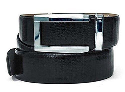 Alligator Belt - Nexbelt Premium Series: Reptile Belt (Lizard Black w/ Prometheus Gunmetal Buckle)