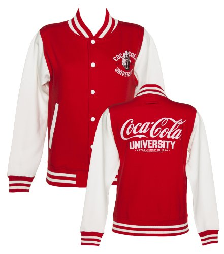 baseball Cola University de femme Veste Coca fqBa8Hnw
