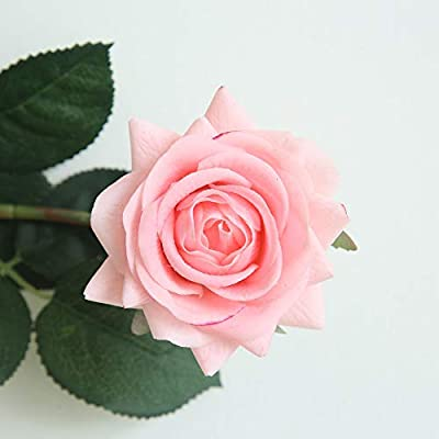 SO-buts Flores de Rosas de plástico de Seda Artificial Flores Falso Simulación Hoja Rosa Craft Floral Arreglo para Boda Decoración del Hogar