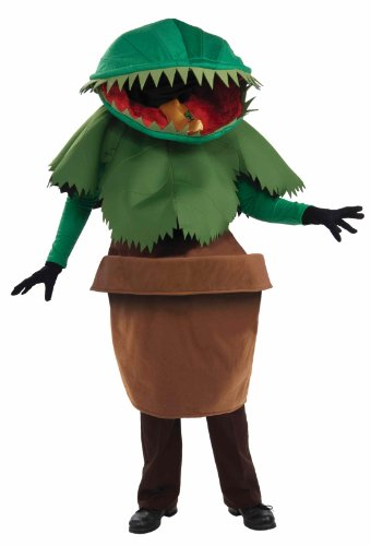 Unisex - Adult Venus Flytrap Costume, Green, One Size