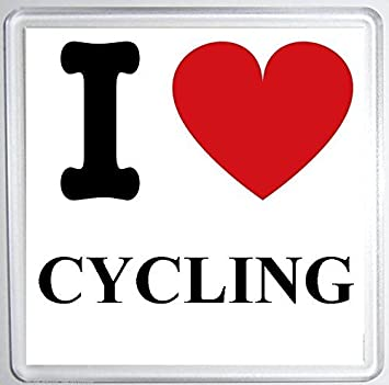 I Love Cycling Coaster Mat Fun Birthdaychristmas Gift Stocking