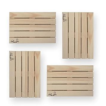 Paleta de madera posavasos - juego de salvamanteles para bebida ...