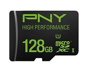 PNY 128GB High Speed MicroSDXC Memory Card (P-SDUX128U160G-GE)