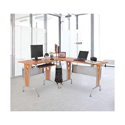 (Corner L Shaped Computer Desk Keyboard Tray Slide Out Laptop Writing Table Workstation Home Office Modern Furniture Rolling Rack)