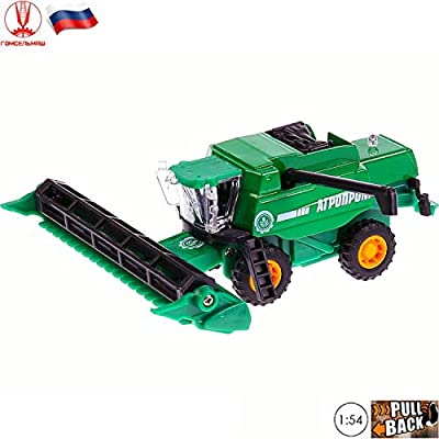 1:65 Scale Diecast Model Russian Combine Harvester Agroprom 4.7''/12cm - Collectible Model Toy Farm Vehicle from Russia: Toys & Games