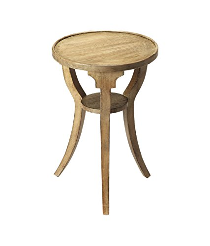 Offex Transitional Round Accent Table Driftwood - Gray