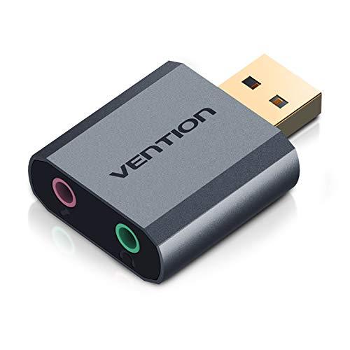 AOEIUV Tarjeta de Sonido USB 3.5 mm Adaptador de Auriculares PUBG ...