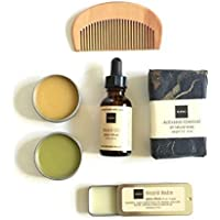 Spicy Citrus | Men's Travel Gift Set | Groomsmen Gift | Gift For Him | Gift for Boyfriend | Gift for Dad | Beard Balm and Beard or Hair Oil | Father's Day Gift Set