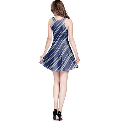 Ravenclaw House Stripes Silver Sleeveless Dress XS-3XL Kleid